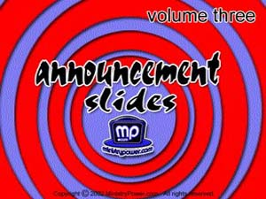 Announcement Slides Volume 3