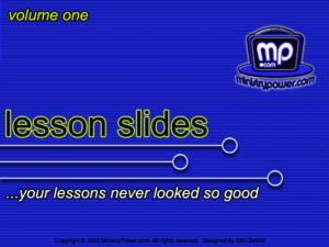 Lesson Slides Volume 1