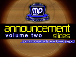 Announcement Slides Volume 2